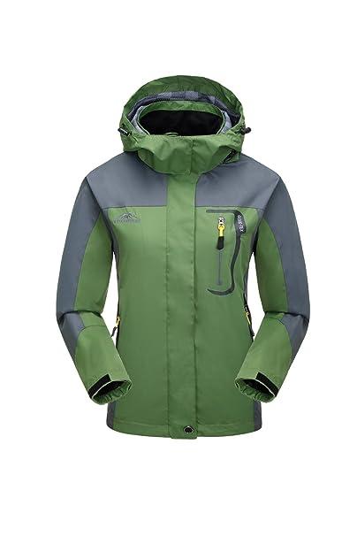 38b72586b KISCHERS Waterproof Jacket Women's Raincoat, Ladies Rain Jacket, Softshell  Jackets Outdoor Sportwear Rain Coats with Hooded