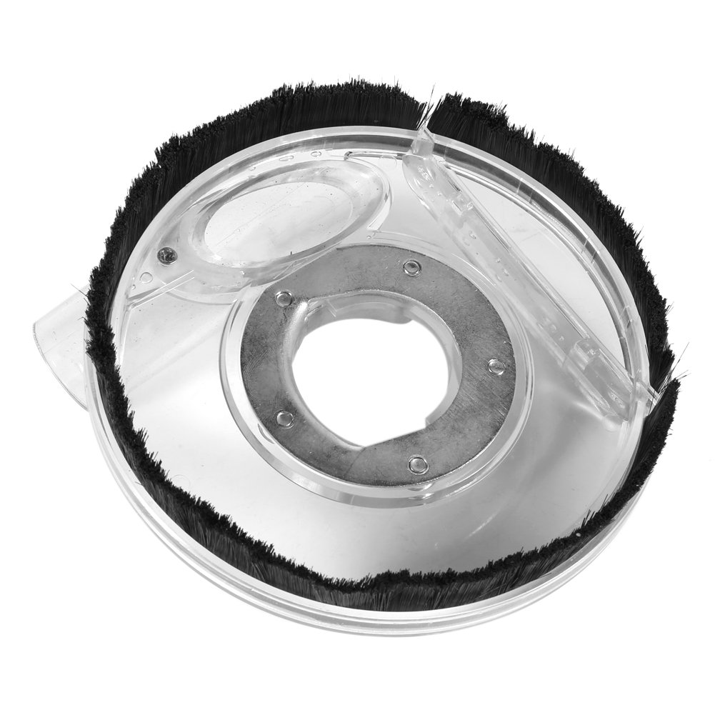 Zerone 80-125mm Clear Vacuum Dust Shroud Dry Grinding Cover for Angle Grinders Hand Grinder