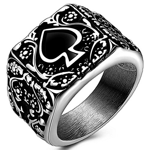 ace of spades ring - 8