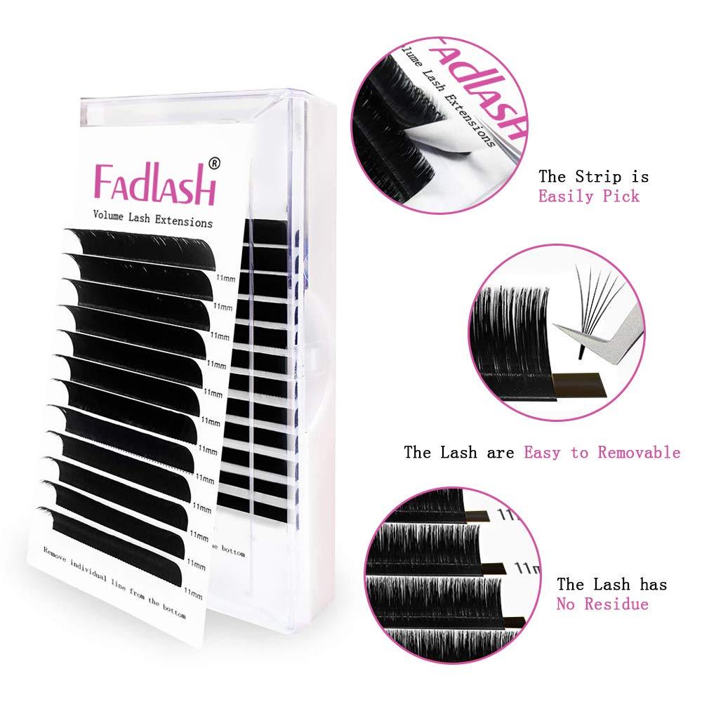 d4e0c750b99 Amazon.com : Volume Lash Extensions 2D 5D 6D~10D Cluster Lashes D Curl  0.10mm 16mm Knot Free Individual Eyelashes 4D 7D 8D Professional Flare  Lashes : ...