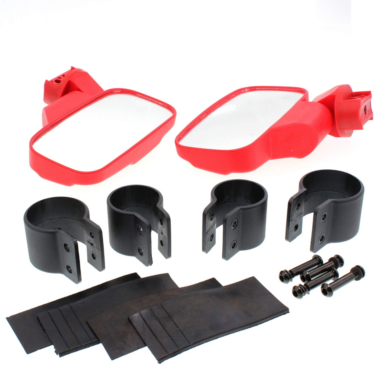 Polaris Ranger General 500 900 1000 Red UTV Universal Side View Mirror Kit Niche Industries