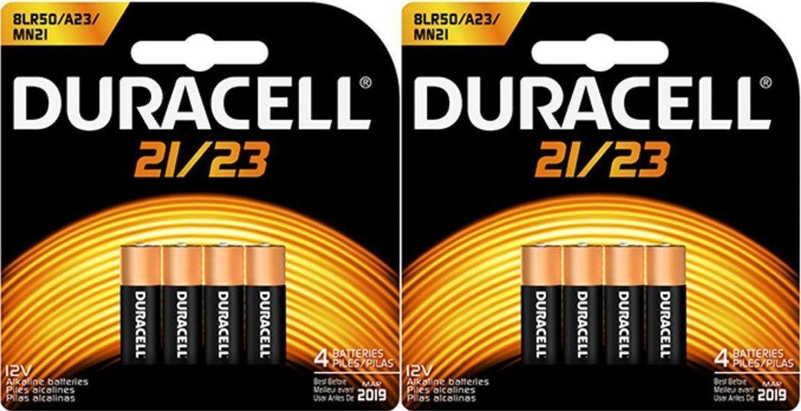 8 Duracell Duralock 21/23 12V Alkaline Batteries MN21B4 8LR50 A23 MN21 4330198211