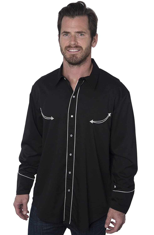 8d844a85 Benny's Las Vegas Casino Black Dress Western Shirt at Amazon Men's Clothing  store: