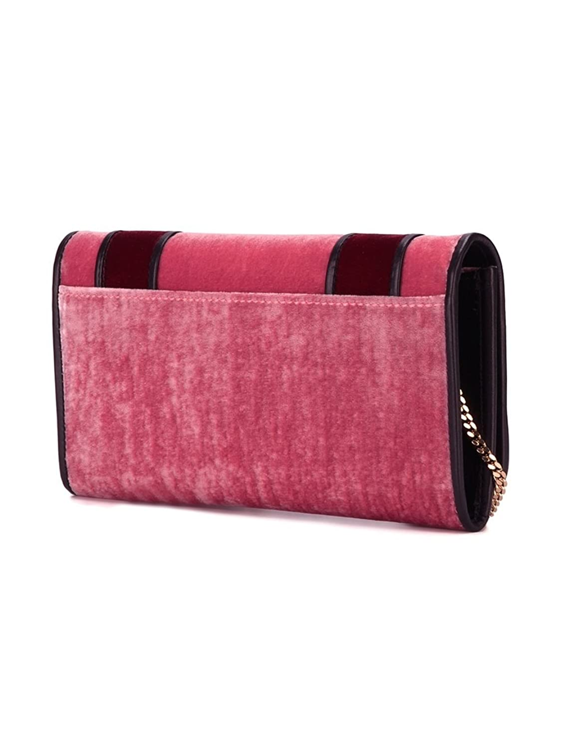 DSQUARED2 WOMEN'S W16CL200710709207 BURGUNDY VELVET CLUTCH