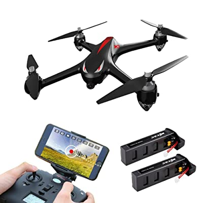 LOHOME B2W Bugs 2 W RC Quadcopter [with 2 battery] - 2.4GHz 6-Axis Gyro 1080P HD 5G Wifi Camera FPV Drone Remote Control Drone Folding Aircraft - Black