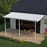 Heritage Patios 16 ft. x 8 ft. White Aluminum Patio Cover (3 Posts / 10 lb. Non-Snow Areas)