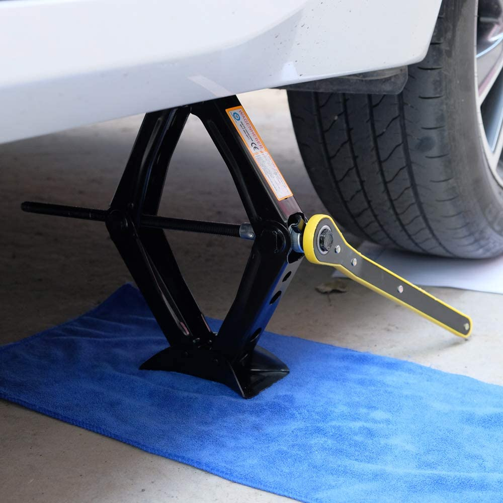 Leveling Jacks Auto Emergency Tools KvSrr Heavy Duty Car Scissor Jacks 1.5 Ton 3,300 lbs