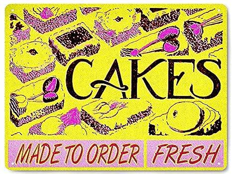 Amazon.com: Panadería Pastel tienda Metal Sign repostería ...