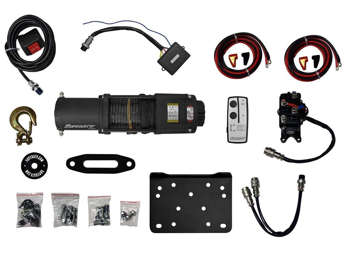 Super ATV 5000 lb. Synthetic Rope ATV Winch w/ Wireless Remote