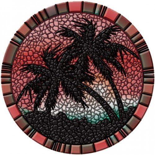 ヤシの木Poolsaic -赤- 59インチ67B00-00028