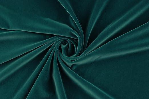 Tela al metro color terciopelo liso de algodón azul polvo: Amazon.es: Hogar
