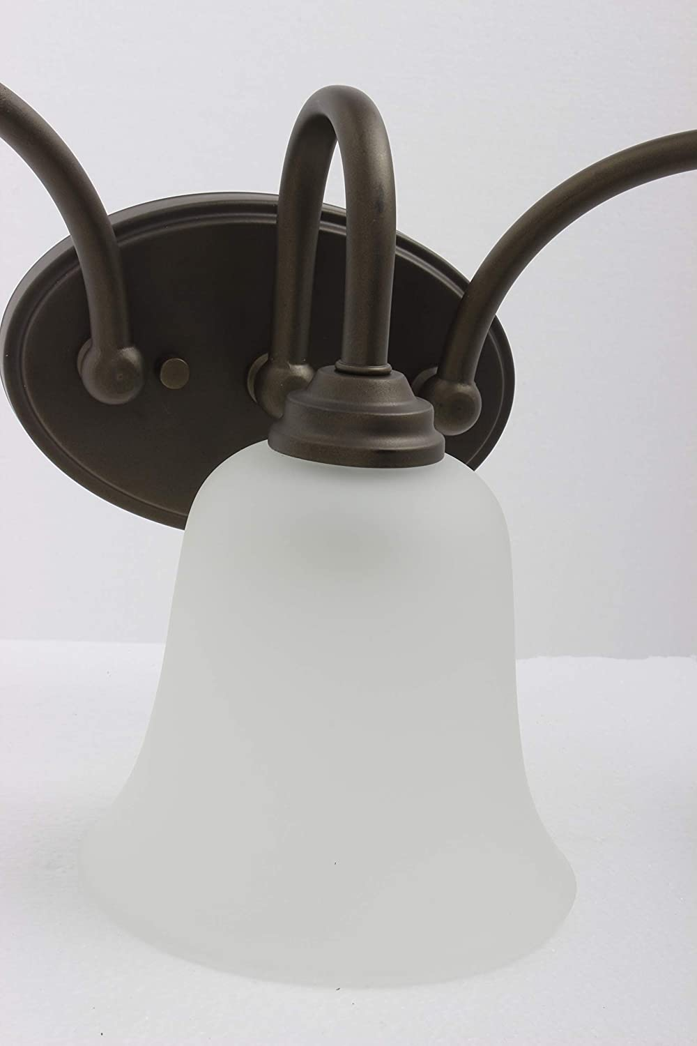 CN170311 Casual Mission 3 Light For The Bath In Oil Rubbed Bronze W WHITE Lined
