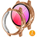 Tensea Compatible with Galaxy Watch Active2 Case, 2 Packs Soft TPU Bumper Full Around Screen Protector Cover for Samsung Galaxy Watch Active 2 40mm (Rose Gold, 44mm)