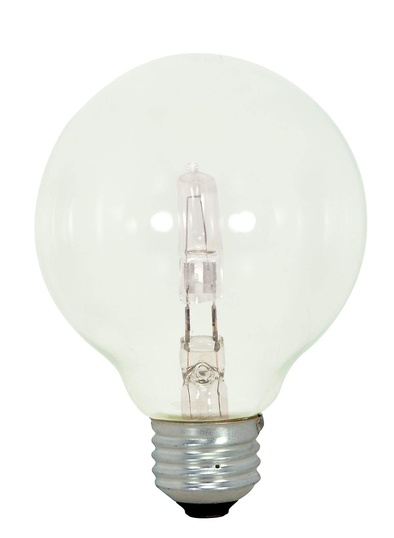 Satco 43G25/CL/120V Halogen Decorative, 43W E26 G25, Clear Bulb [Pack of 6]
