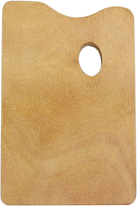ULTNICE Wooden Paint Palette Oil Paint Palette with Thumb Hole for Acrylic Watercolor