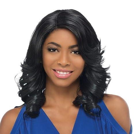 Amazon Com Wig Long Curly Hair Female Black Partial Big Wave Volume