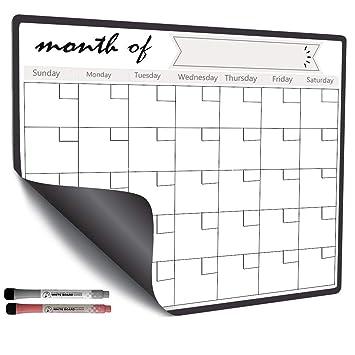 Amazon.com: Calendario magnético para nevera frigorífico ...