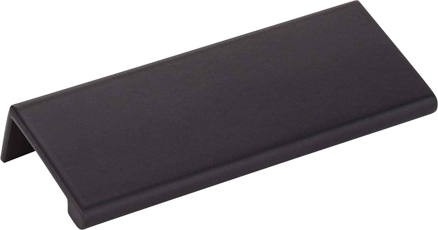 """Hardware Resources Elements A500 Edgefield Collection Cabinet and Furniture Handle Pull (4"""" overall length, Matte Black)"""