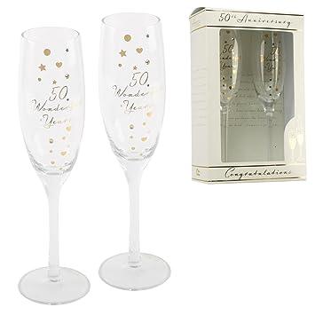 Personnalise Amore Flutes A Champagne 50eme Anniversaire De Mariage