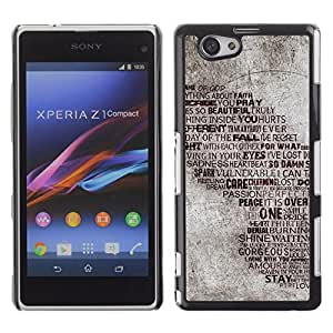 Graphic4You Flying For The Lightning Words Quote Design Hard Case Cover for Sony Xperia Z1 Compact (Mini)