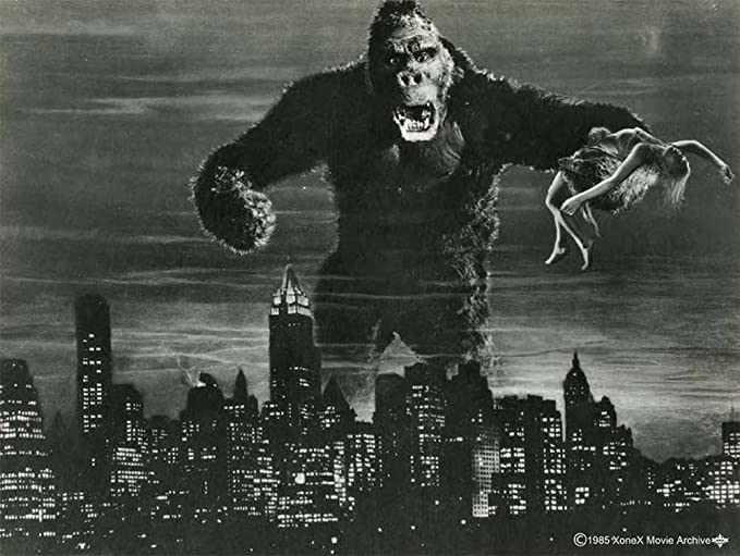 King Kong - Black and White - cartel de cine Movie Peter ...