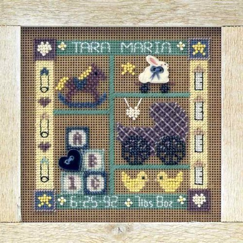 Baby Sampler Beaded Counted Cross Stitch Kit Mill Hill MHCB120 Buttons & Beads 1998 Everyday ()