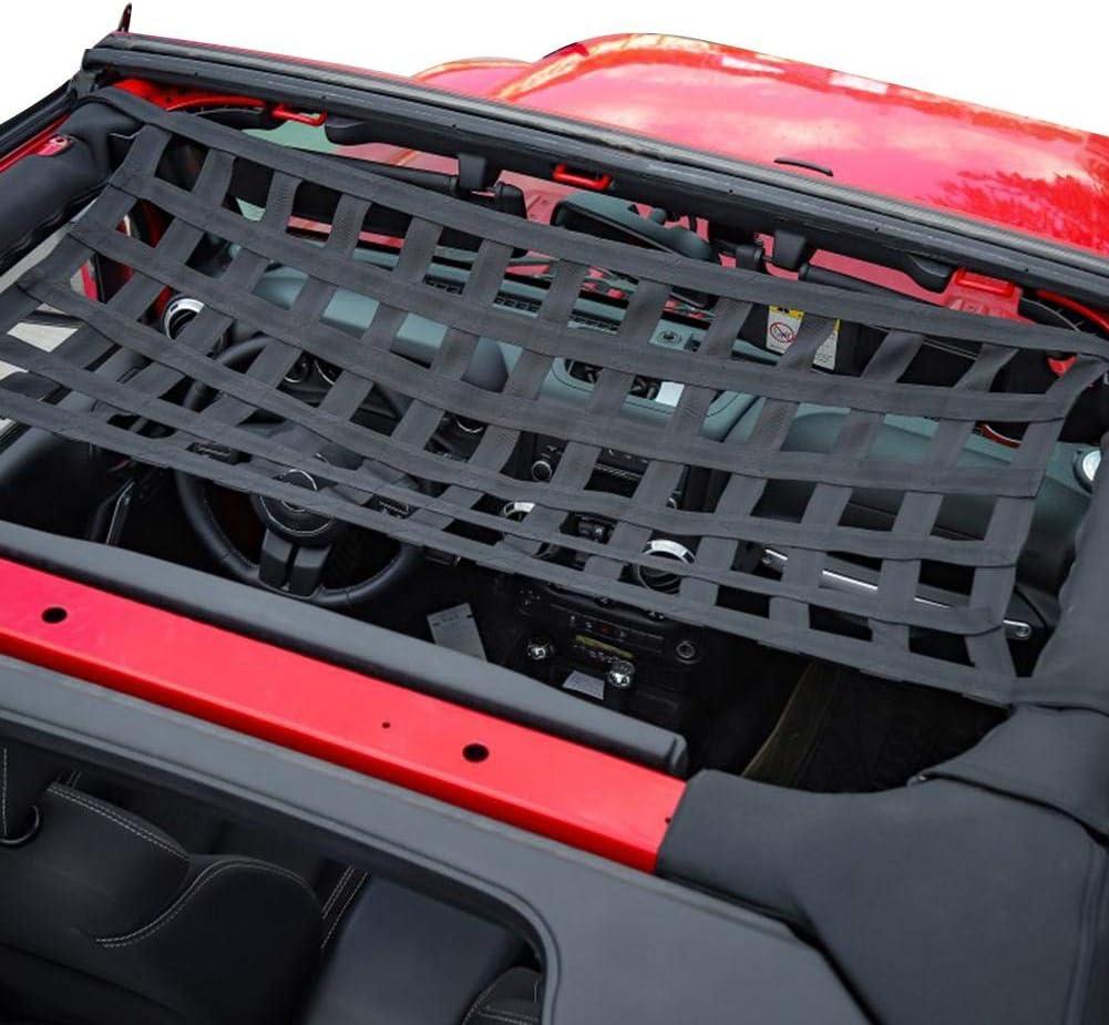 Komfort Elastische Auto Dach H/ängematte Top Rest Bett Net wasserdichte Cargo Cover Net F/ür Jeep Wrangler YJ TJ JK JKU JL JLU 1997-2019 Euopat Mesh Cargo Net