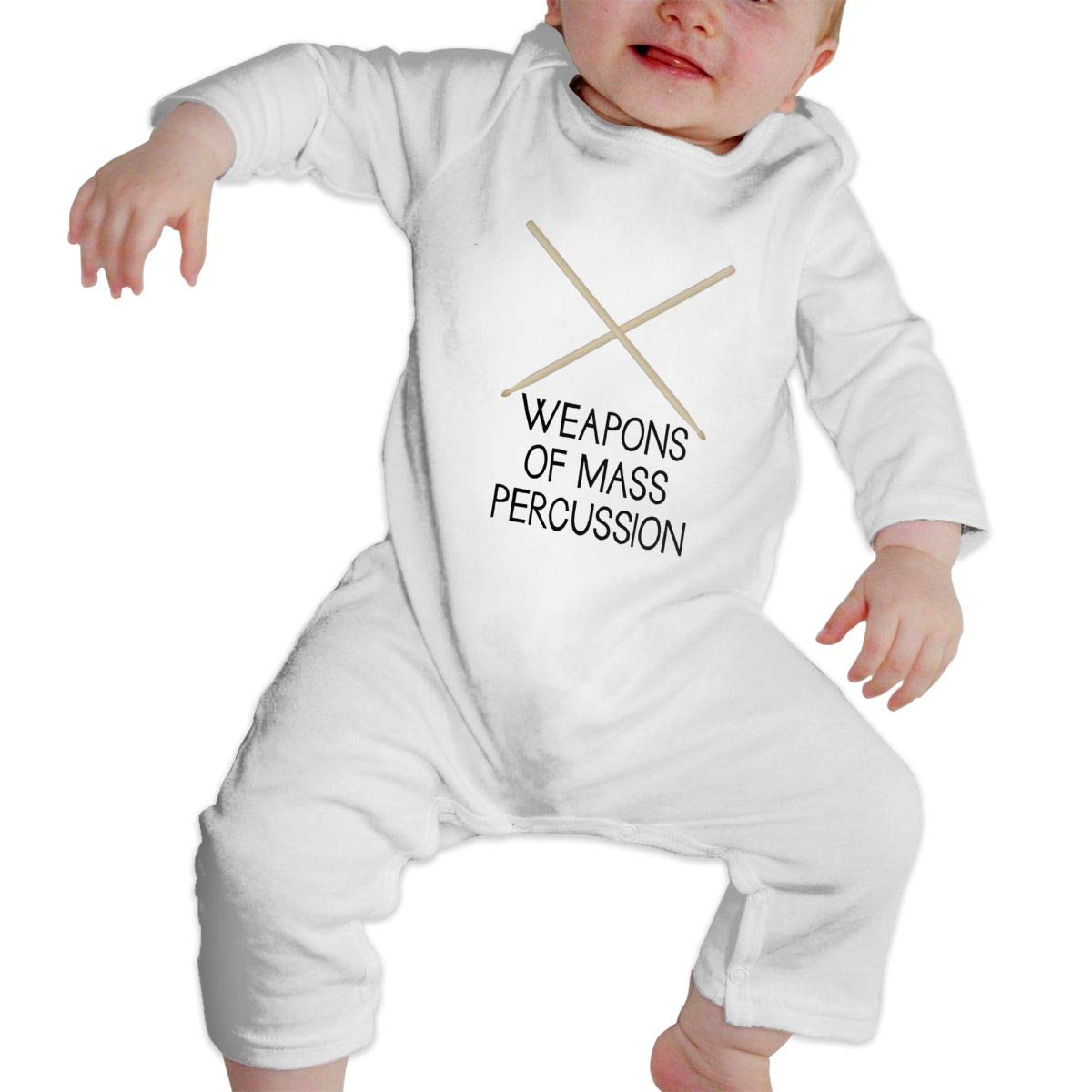 MiNgosRY Weapon of Mass Percussion Newborn Baby Long Sleeve Bodysuits Rompers Outfits