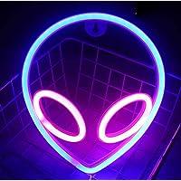 LTXDJ Buitenaardse neonlamp, led-bordjes, neonbordjes, led-planeet, neonverlichting, batterij of USB-voeding, decoratie…