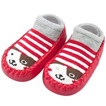 ZHRUI Zapatos de calcetines antideslizantes para niños pequeños Botas Calcetines, Bebé recién nacido Dibujos animados Bebé recién nacido Niños Chicos ...