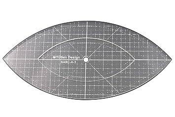 3 mm de acrílico de punto de sueño Patchwork Quilting plantilla regla Arc para uso doméstico