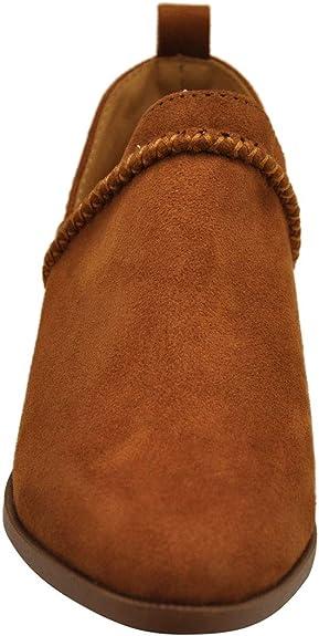 Qupid Rager-07 Warm Taupe Vegan Nubuck Braided Ankle Bootie