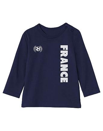 Cadeau Fan de Football France Supporters T-Shirt Bébé Unisex Manches  Longues  Amazon.fr  Vêtements et accessoires d68bcd5232f