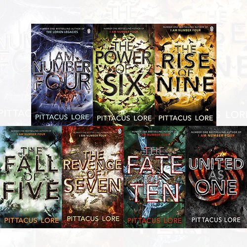 Lorien Legacies Collection 7 Books Assortment Set By Pittacus Lore I Am Quantity [NEW]