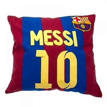 Cojín de FC Barcelona oficial, de Messi, un gran regalo para los fanáticos del