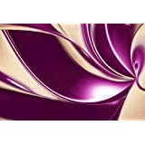 LARGE PLUM BEIGE ABSTRACT CANVAS ART PICTURE mounted and ready to hang 30 x 20 inches (76 x 52 CM)