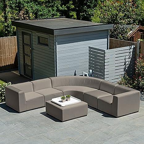 Nova - Juego de sofá de jardín de tela para exteriores por ...