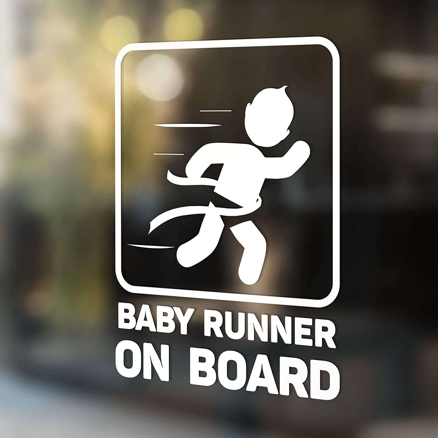 Babycalla Baby on Board Signs for Car Windows Sticker White Vinyl Boy and Girl New Cricket Player Design 2019 34 Variations