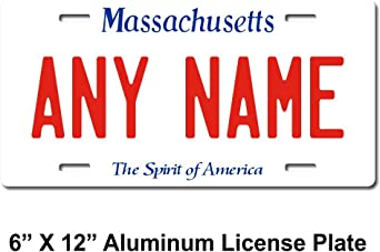 """MASACHUSETTS custom novelty license plate-your name or text 6/""""x12/""""-FREE SHIPPING"""