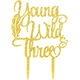 Karoo Jan Young Wild Three Cake Topper - 3rd Birthday Cake Toppers - Baby Birthday Party Decorations