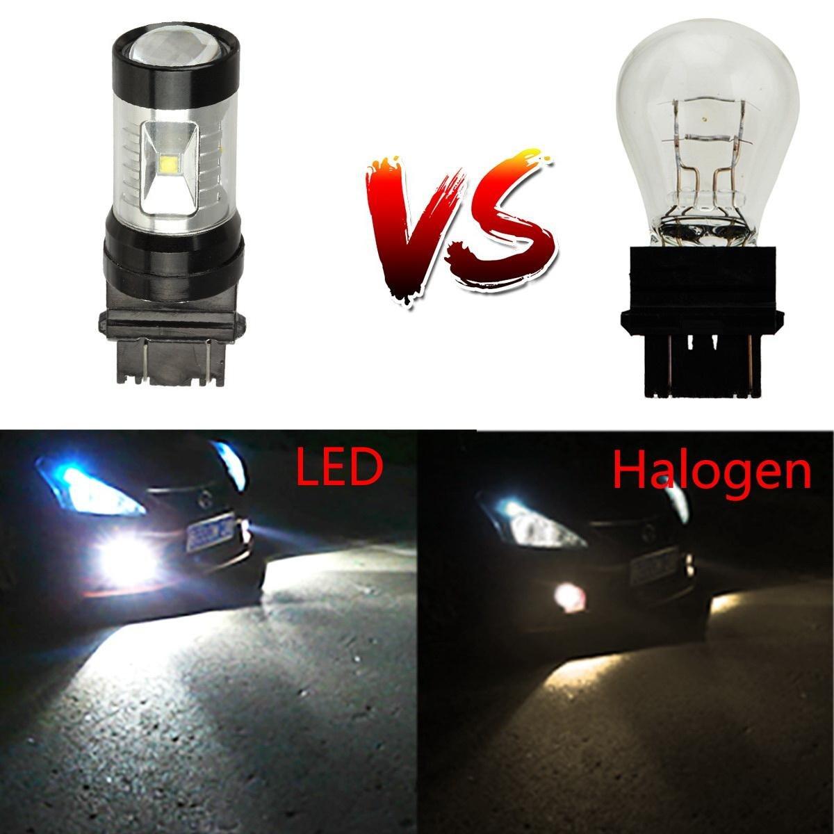 Partsam Car H8 H11 Blue 6-Cree-XB-D CREE LED DRL Fog Light Bulbs