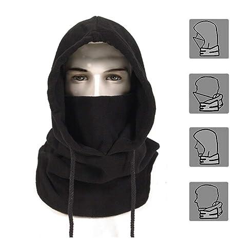 62411dba0af5 Joyoldelf Balaclava Chapeau Cagoule Moto Masque en Non-tissé Multifonction  pour Temps Froid Ski Outdoor