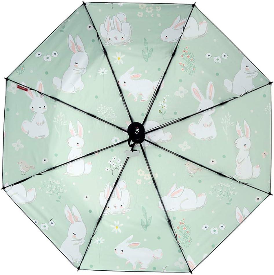 JUNDY Paraguas portátil Mini Plegable Resistente al Viento – Duradero Paraguas de Viaje Paraguas Lluvia y Lluvia Protector Solar de plástico Negro de Doble Uso Paraguas Color 95 cm: Amazon.es: Hogar