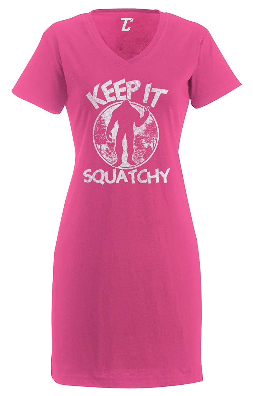 Bigfoot Sasquatch Womens Nightshirt Tcombo Keep It Squatchy