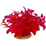 Jardin Plastic Aquarium Plants Fish Tank Decoration, Red/Purple
