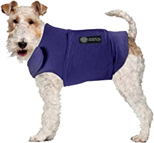 AKC - American Kennel Club Anti Anxiety and Stress Relief Calming Coat for Dogs, Essential for Thunderstorm season and 4th of July Fireworks- Blue, X-Small