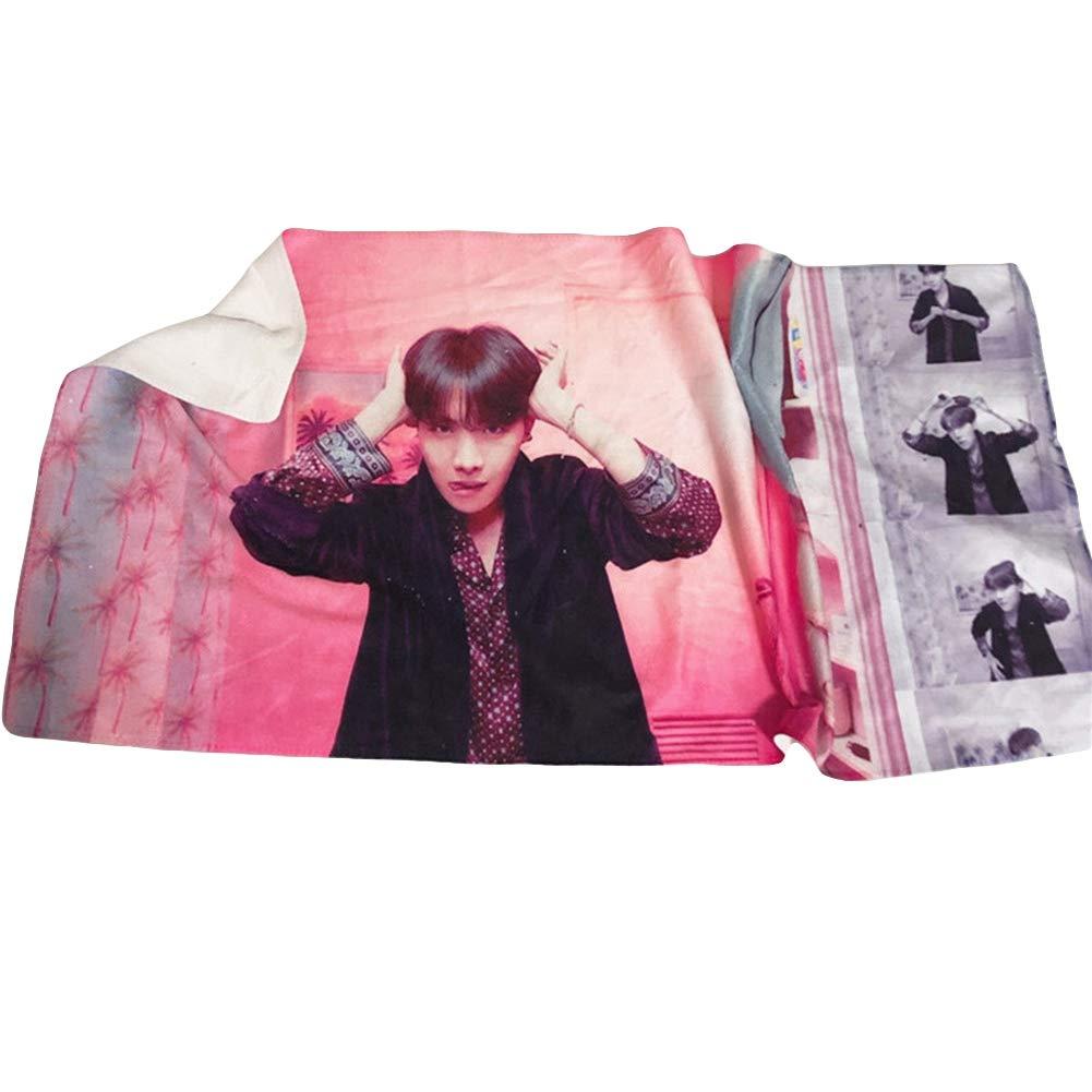 BTS Bestomrogh Kpop BTS 《Map of The Soul Persona》 C/ôt/é Unique Mod/èle Impression Polyester Coton Les Serviettes 35 75 cm Petite /Écharpe Carr/ée A.R.M.Y Cadeau Chaud