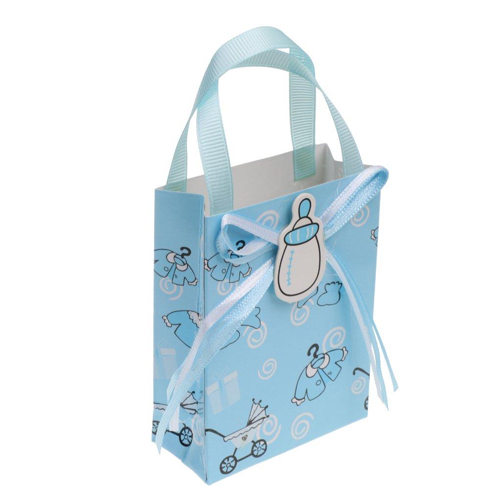 D DOLITY 12pcs Bolsas de Regalo de Bautizo de Bebé Decoración de Fiesta de Cumpleaños - Azul: Amazon.es: Joyería