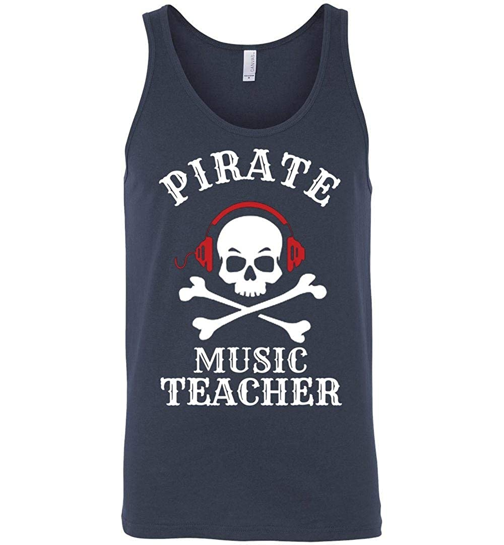 Pirate Music Teacher Halloween Tank Idea Adult and Youth