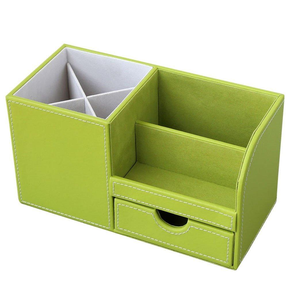 Rosa KINGFOM B/üro Schreibtisch Organizer Ordnungssystem 4 Speicherabteil PU Leder Stiftebox Stiftek/öcher B/ürobedarf